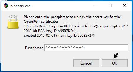 Enviar ficheiros encriptados
