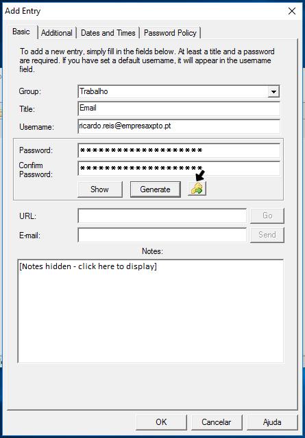 Gestor de palavras-passe