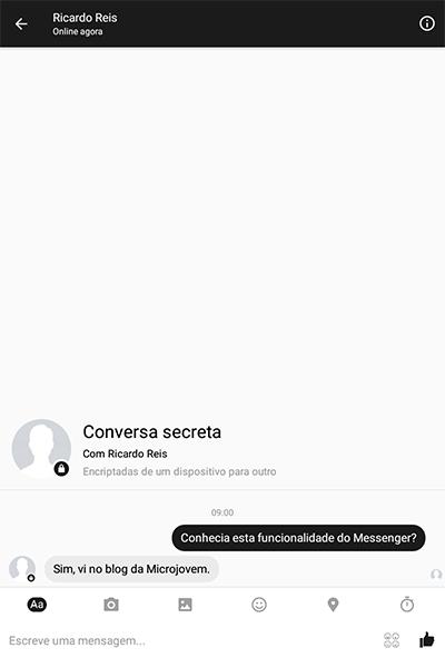 Encriptar conversas Facebook Messenger
