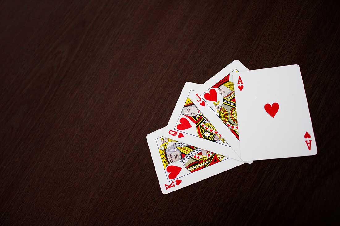 Criar palavra-passe com baralho de cartas