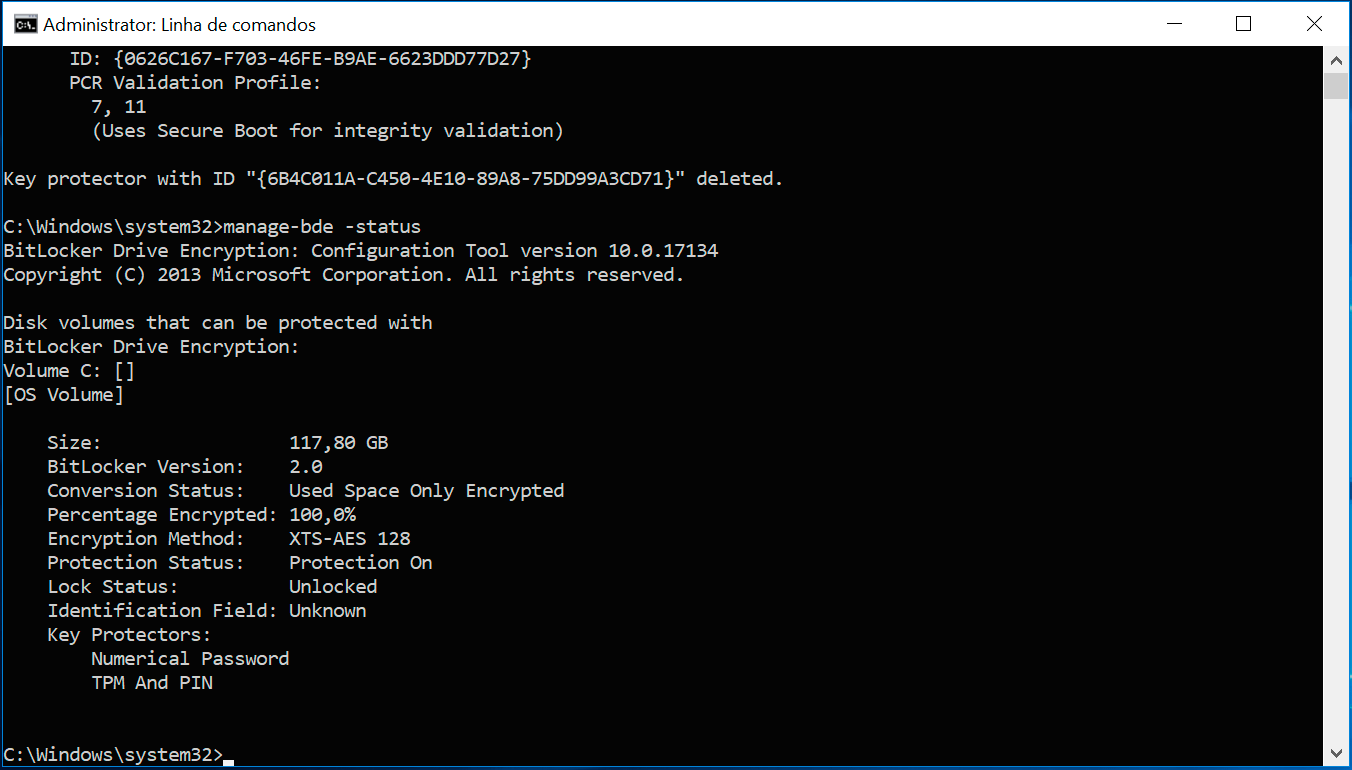TPM e PIN no BitLocker
